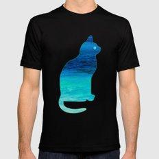 SEA CAT MEDIUM Mens Fitted Tee Black