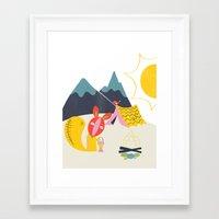 camping Framed Art Prints featuring Camping by Pragya Kothari Inc