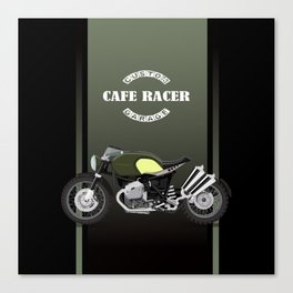 vintage motorcycle poster vector illustration Canvas Print