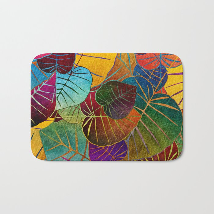 Leaf Pattern 4 Bath Mat