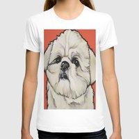 shih tzu T-shirts featuring Waffles the Shih Tzu by Cheney Beshara