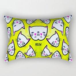 Cat Heads Rectangular Pillow