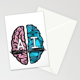 AI Nerd design - Artificial Intelligence Brain graphic Stationery Cards
