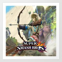 super smash bros Art Prints featuring Super Smash Bros by custompro