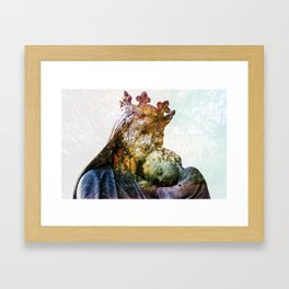 Statue / Double Exposure / 2 Framed Art Print