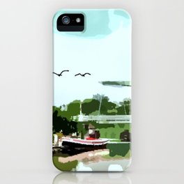 Bridge at the River iPhone Case