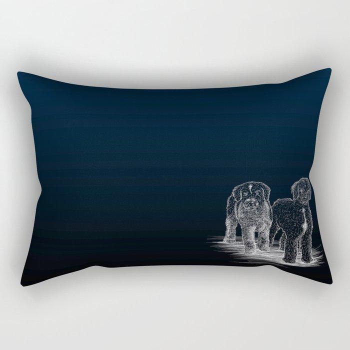 Zarco y Pipo Rectangular Pillow