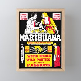 Marijuana Poster (Reefer Madness) Framed Mini Art Print