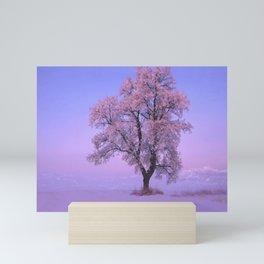 Pink Snow Tree Mini Art Print