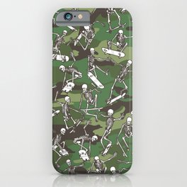 Grim Ripper Skater Camo WOODLAND GREEN iPhone Case