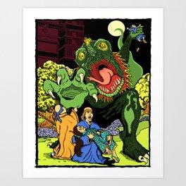Monster in the Garden of Sorrow Art Print