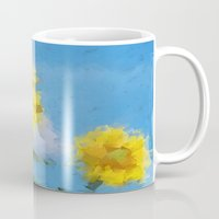sunflowers Mugs featuring Sunflowers by Paul Kimble