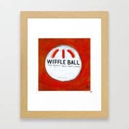 "Wiffle Ball (2011), 17"" x 17"", acrylic on gesso on chipboard Framed Art Print"