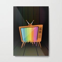 Rainbow TV Metal Print
