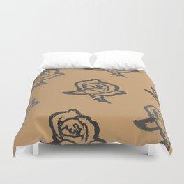 Rose Scratch Pattern Duvet Cover