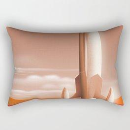 Sleek Mars Transporter Rectangular Pillow