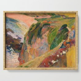 Paul Gauguin - The Flageolet Player on the Cliff - Digital Remastered Edition Serving Tray