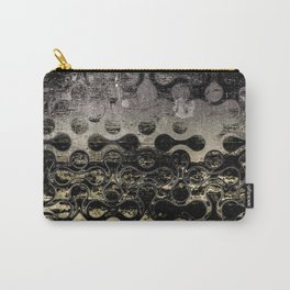 Distressed Silver Gold Multi Pattern Abstract Carry-All Pouch