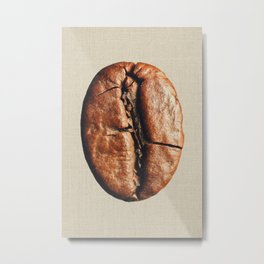 Coffeeholic Bean Metal Print