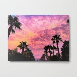 Las Vegas Palms at Sunset Metal Print