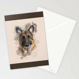 German Shepherd Neutral Watercolor Stationery Cards