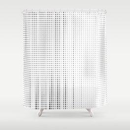Rhythm of black dots on white background Shower Curtain
