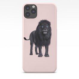 BLACK LION iPhone Case