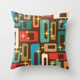 Retro Mid Century Modern Abstract Pattern 222 Throw Pillow