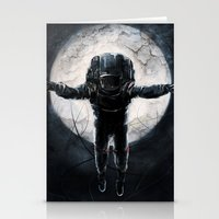 lunar Stationery Cards featuring Lunar Figure  by Steve Panton