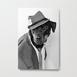 The Reporter - Rotweiler Dog Metal Print