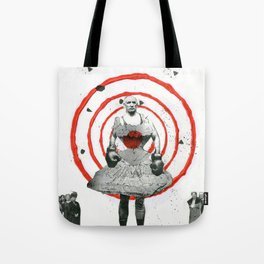 Woman with stones Tote Bag