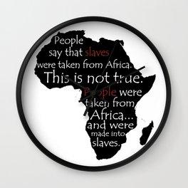 People, NOT Slaves! Wall Clock