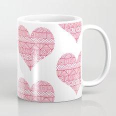Patterned Hearts Pattern Mug