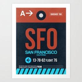 SFO San Francisco Luggage Tag 2 Art Print