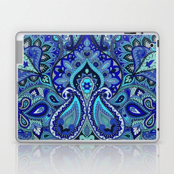 Paisley Blue Laptop & iPad Skin