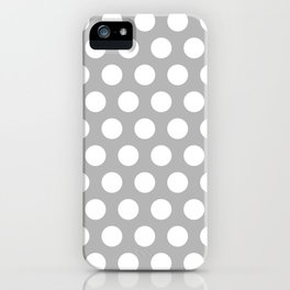 Gray and White Polka Dots 772 iPhone Case