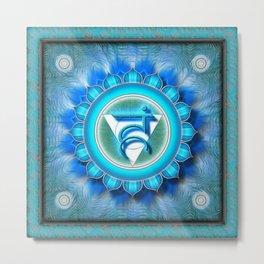 Vishuddha Chakra - Throat Chakra - Series I Metal Print