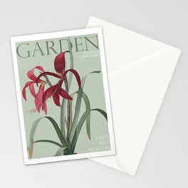 Victoria's Garden, feat. Amaryllis Formosissima, Magazine Cover Stationery Cards