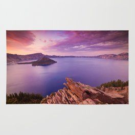 Crater Lake Sunset Rug