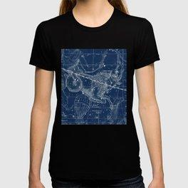 Capricorn sky star map T-shirt