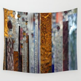 Abstract Glass Wall Tapestry