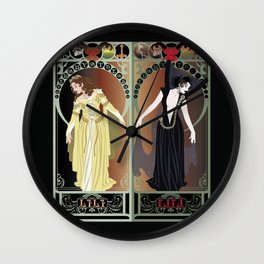 Legend Nouveau - Mirrored Wall Clock