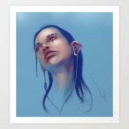Sci-fi Music listening Art Print