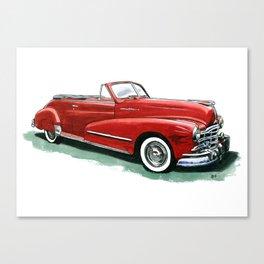 48 Pontiac Silver Streak Canvas Print