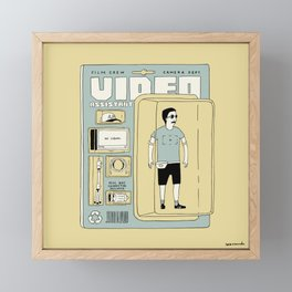Video Assistant action figure Framed Mini Art Print
