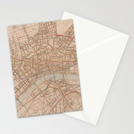 Vintage Map of Frankfurt Germany (1880) Stationery Cards