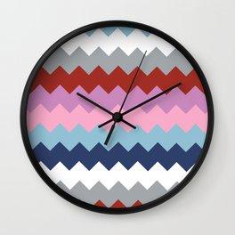 Map Quilt Wall Clock