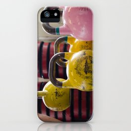 Kettlebell Pick Up iPhone Case