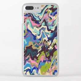 Techno Wave Clear iPhone Case