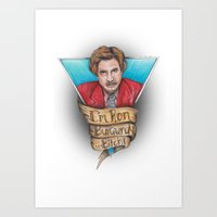 anchorman Art Prints featuring Anchorman by Tiffany London